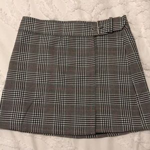 F21 Plaid Wrap Skirt